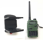 SlipGrip Holder For Baofeng Two-Way Radio BF-F9 V2 Plus Rubber Sleeve On or OFF In House Desk Car
