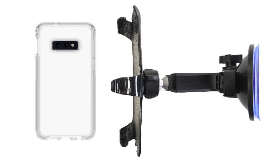 SlipGrip Car Holder For Samsung Galaxy S10e Using Otterbox Symmetry Clear Case HV