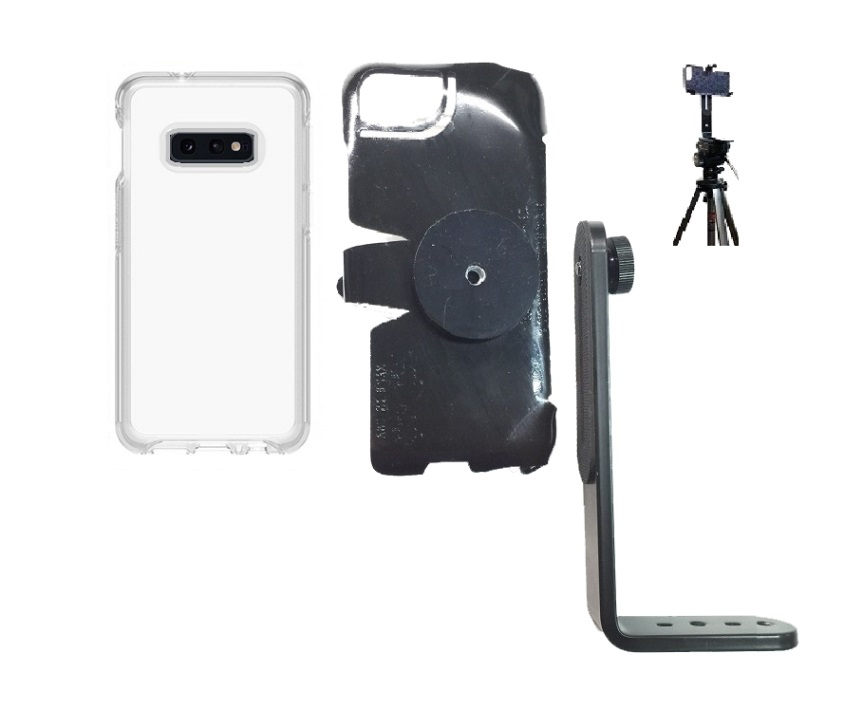 SlipGrip Tripod Mount For Samsung Galaxy S10e Using Otterbox Symmetry Clear Case