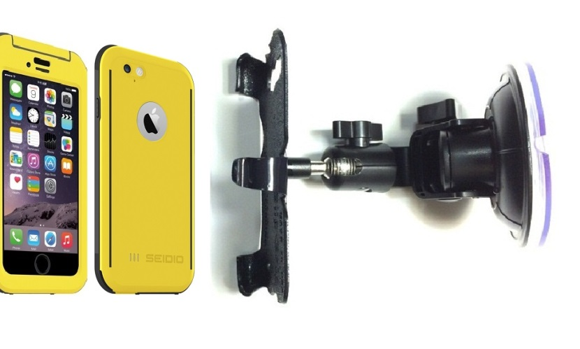 quality design 4b821 89dcf SlipGrip Car Holder For Apple iPhone 6 Using Seidio Obex WaterProof Case DT