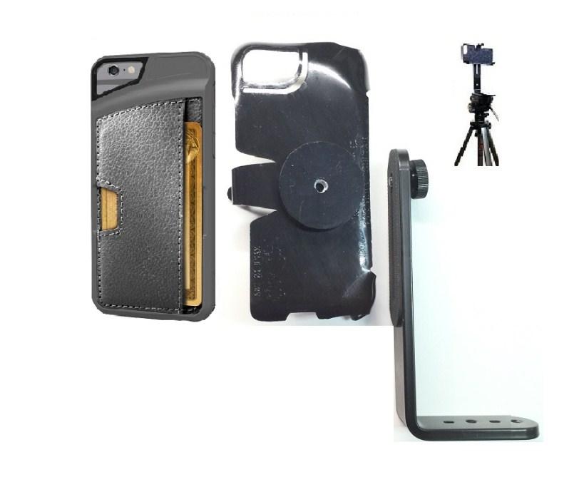 best service 0076b e9e68 SlipGrip Tripod Mount For Apple iPhone 6 Using CM4 Q Card Wallet Case