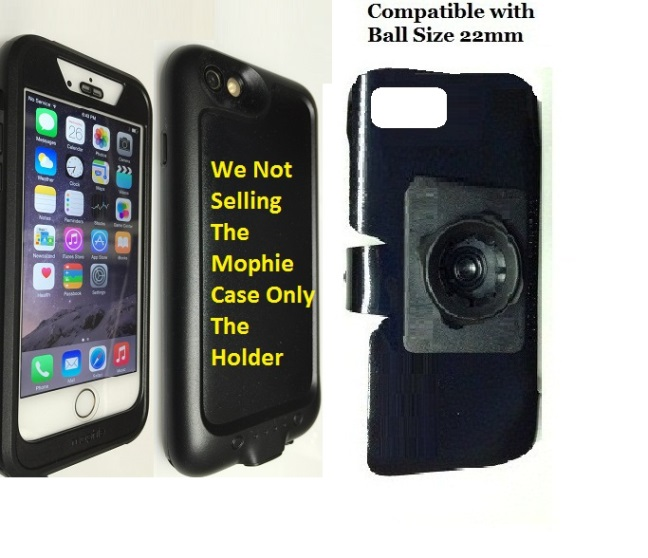 SlipGrip 22mm Ball Holder For Apple iPhone 6 Using Mophie Juice Pack H2PRO WaterProof Case