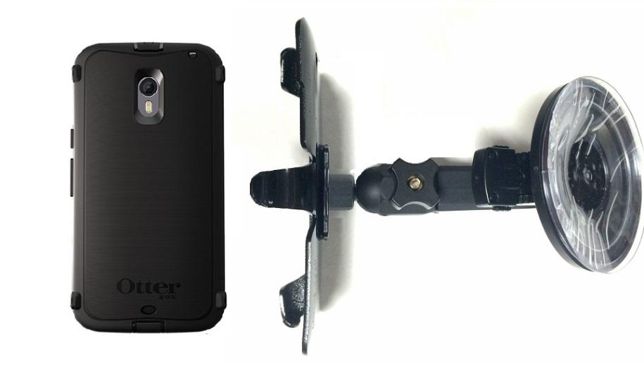 cheaper 53fb2 6eb94 SlipGrip Car Holder For Motorola Moto X Pure 3rd Gen Using Otterbox  Defender Case HV