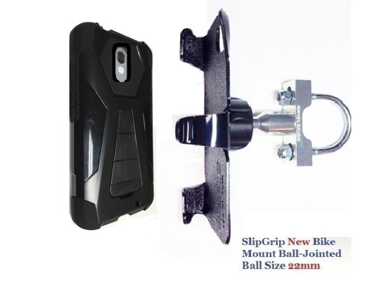 SlipGrip U-Bolt Bike Holder For Motorola Droid Turbo 2 Using Hard Rubber  Hybrid Skin Case