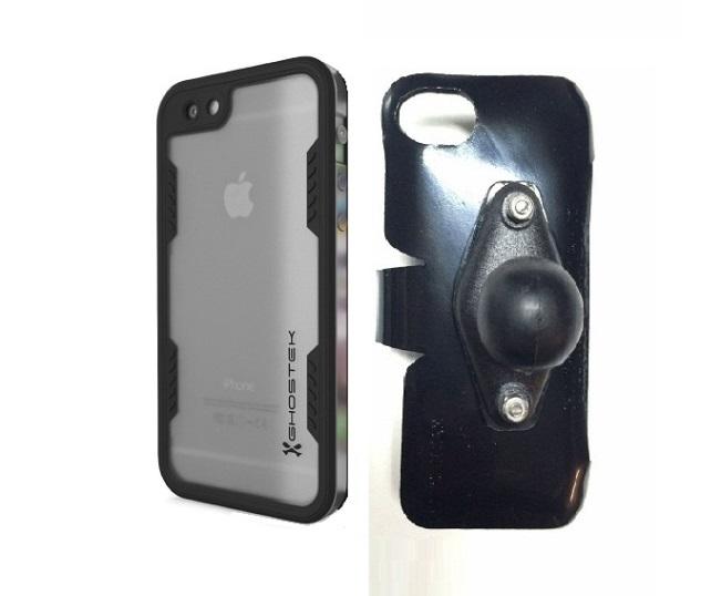 wholesale dealer 6aab8 67780 SlipGrip RAM Holder For Apple iPhone 6S Using WaterProof Ghostek Atomic 2.0  Case