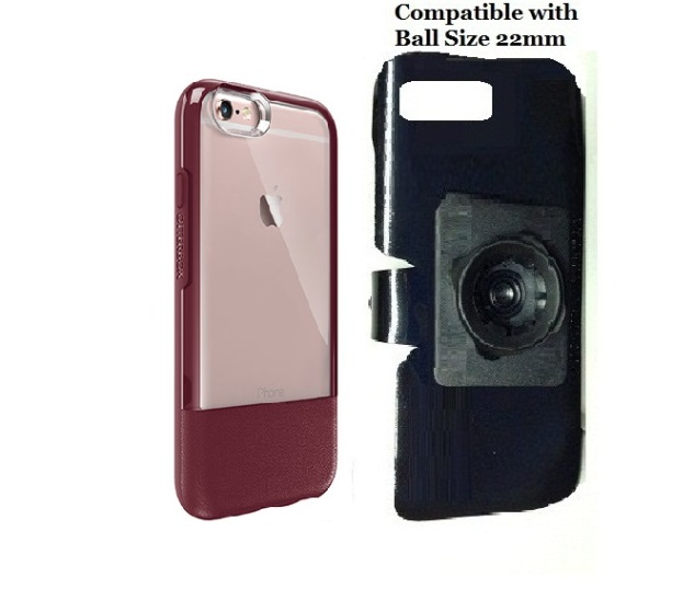 SlipGrip 22mm Ball Holder For Apple iPhone 6 Plus Using Otterbox Statement Case