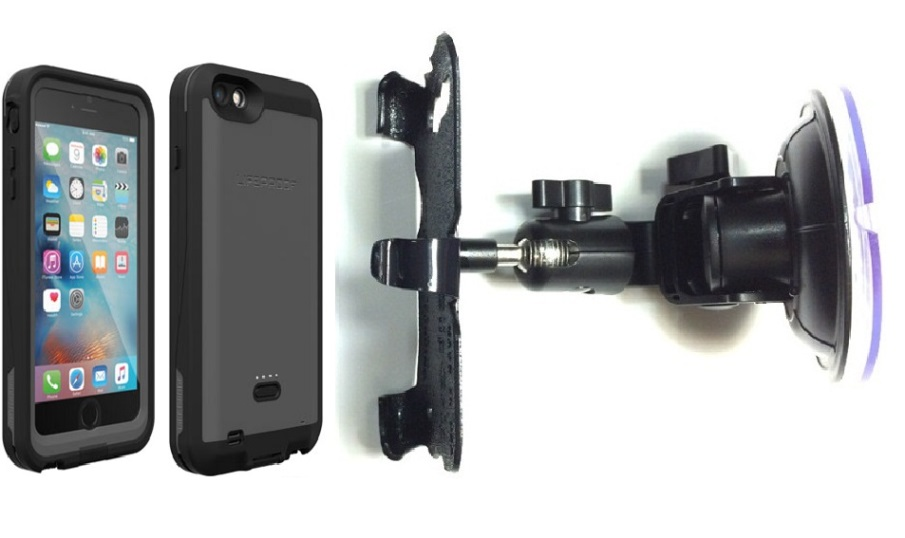 SlipGrip Car Holder For Apple iPhone 6S Plus Using LifeProof Fre Power Case DT
