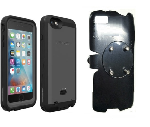 SlipGrip RAM-HOL Holder For Apple iPhone 6S Plus Using LifeProof Fre Power Case