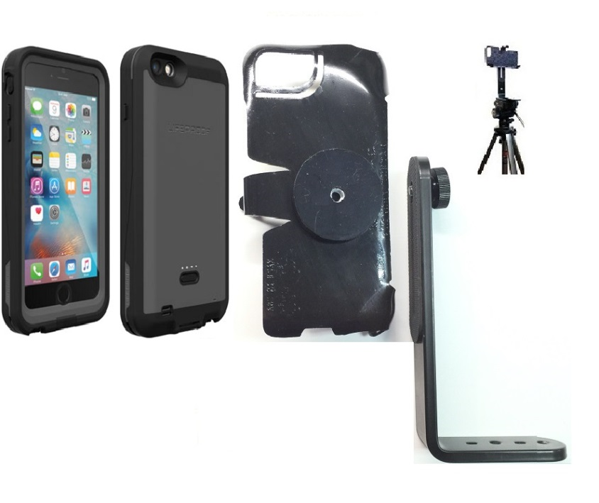 SlipGrip Tripod Mount For Apple iPhone 6S Plus Using LifeProof Fre Power Case