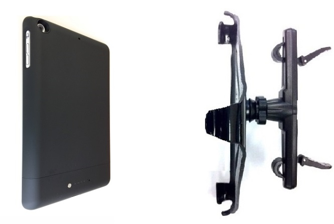 SlipGrip Headrest Mount Designed To Work With iPad Mini 1 & 2 & 3 Tablet Mophie Space Pack Case