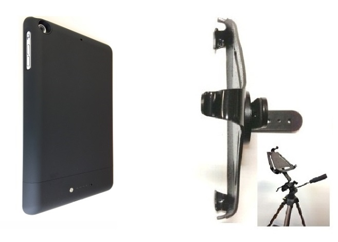 SlipGrip Tripod Mount Designed To Work With iPad Mini 1 & 2 & 3 Tablet Mophie Space Pack Case