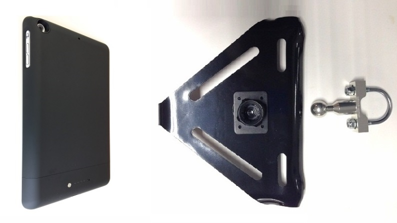 SlipGrip U-BOLT Mount Designed To Work With iPad Mini 1 & 2 & 3 Tablet Mophie Space Pack Case