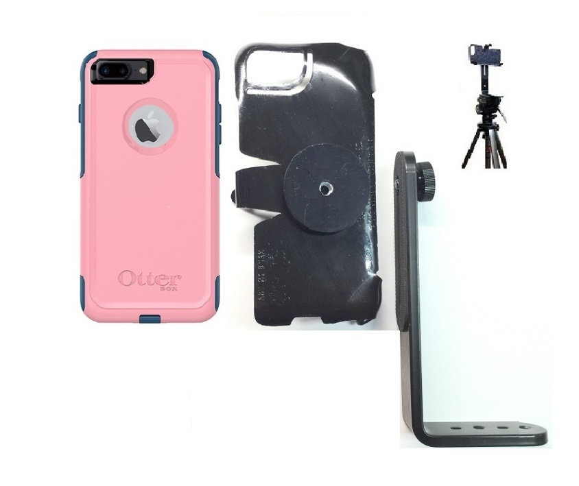 SlipGrip Tripod Mount For Apple iPhone 7 Plus Using OtterBox Commuter Case