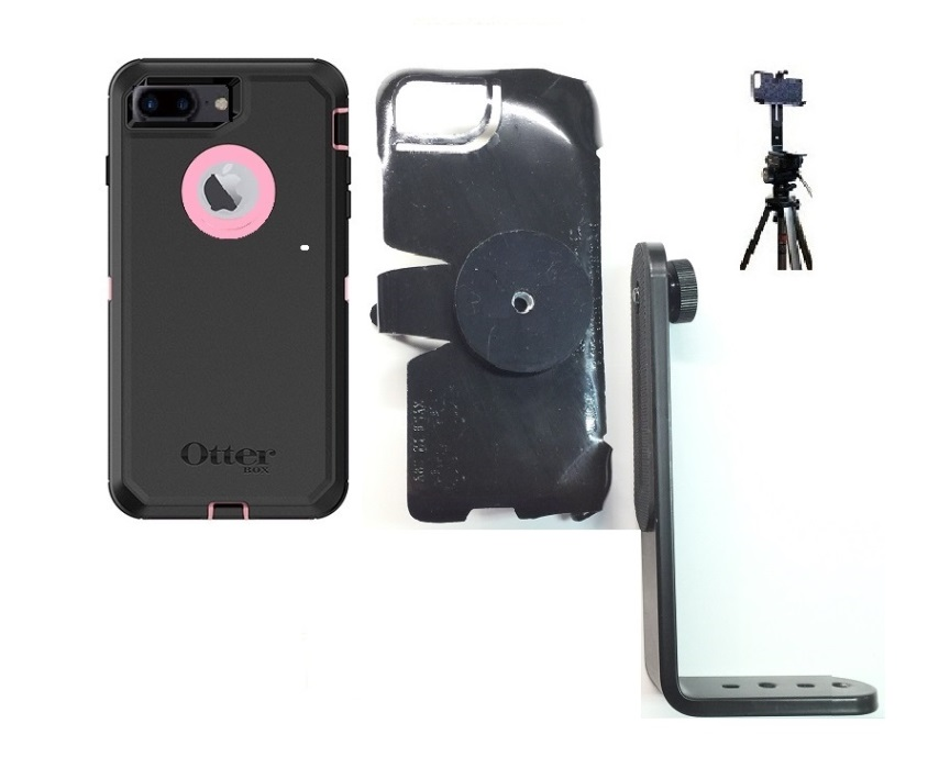 SlipGrip Tripod Mount For Apple iPhone 8 Plus Using OtterBox Defender Case
