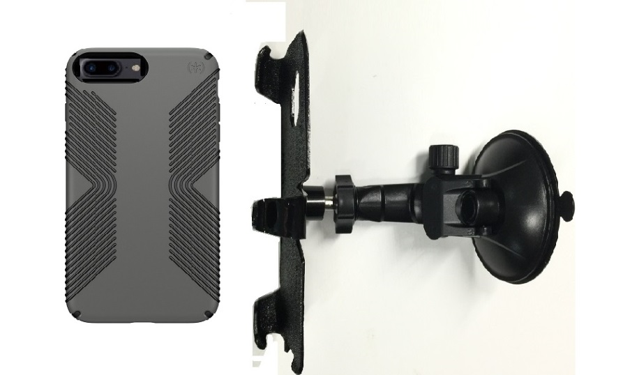 SlipGrip Car Holder For Apple iPhone 8 Plus Using Speck Presidio Grip Case LP