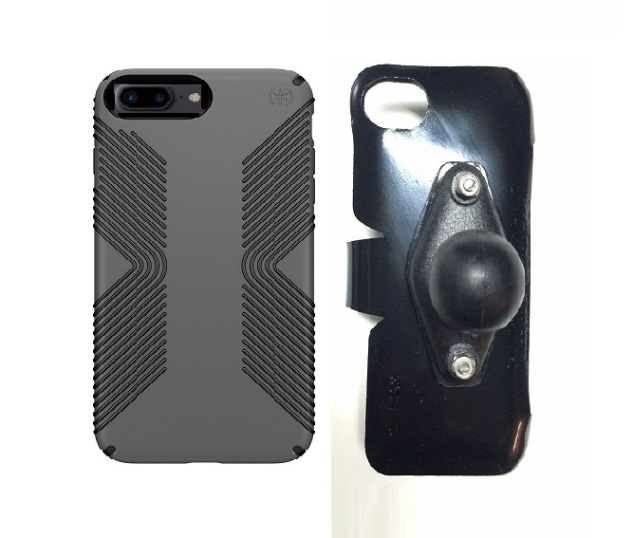 SlipGrip RAM Holder For Apple iPhone 8 Plus Using Speck Presidio Grip Case
