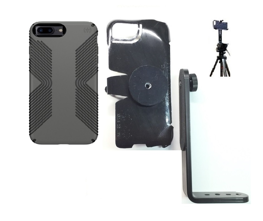 SlipGrip Tripod Mount For Apple iPhone 8 Plus Using Speck Presidio Grip Case