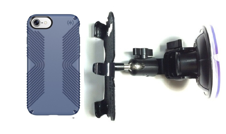 SlipGrip Car Holder For Apple iPhone 7 Using Speck Presidio Grip Case DT