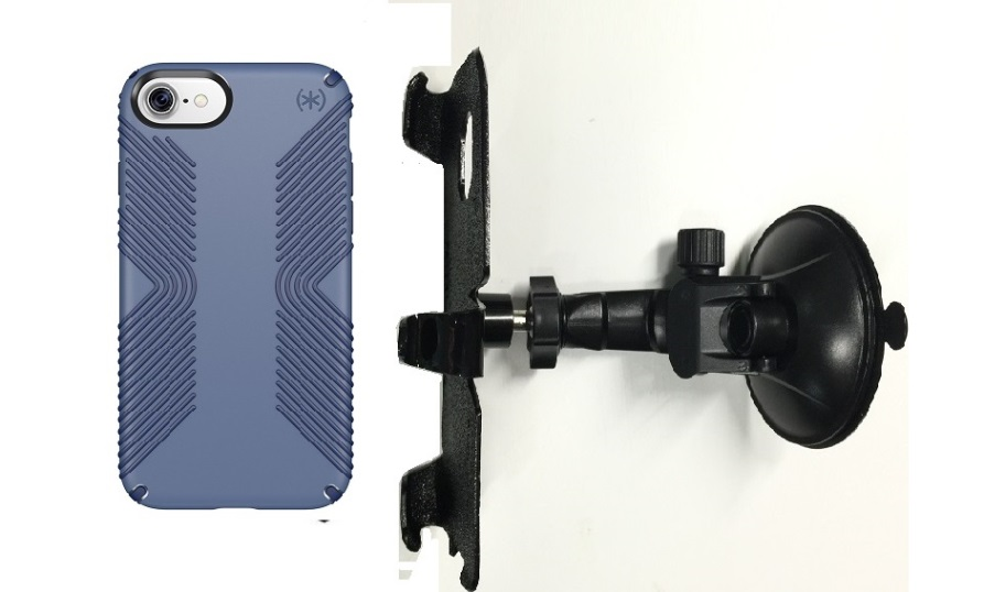 SlipGrip Car Holder For Apple iPhone 7 Using Speck Presidio Grip Case LP