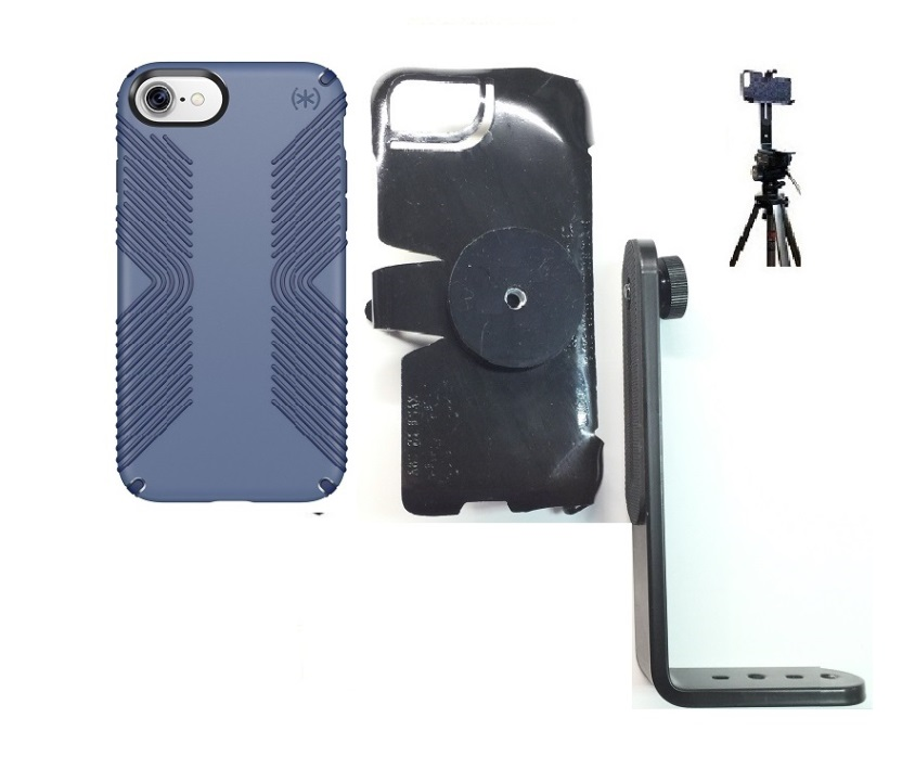 SlipGrip Tripod Mount For Apple iPhone 7 Using Speck Presidio Grip Case
