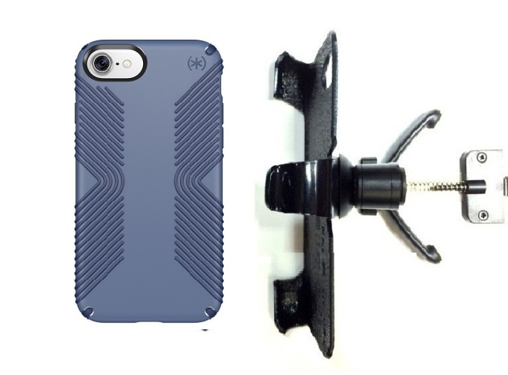SlipGrip Vent Holder For Apple iPhone 7 Using Speck Presidio Grip Case