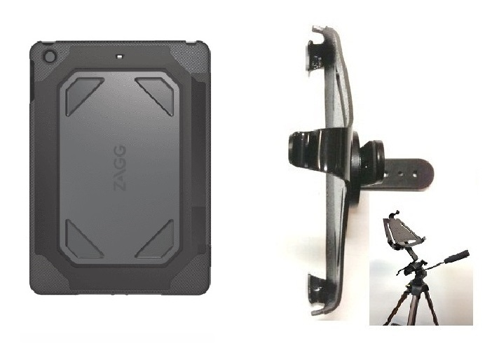 SlipGrip Tripod Mount For Apple iPad Pro 9.7 Tablet Using ZAGG Rugged Case