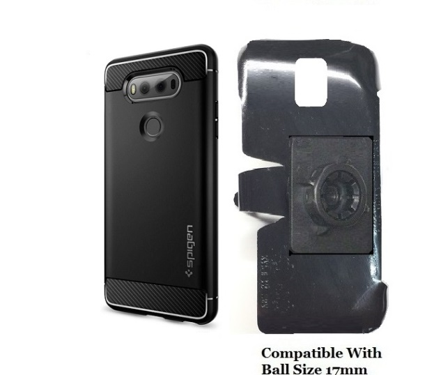 new product 22c06 2f2df SlipGrip 17MM Holder For LG V20 Phone Using Spigen Rugged Armor Slim Case
