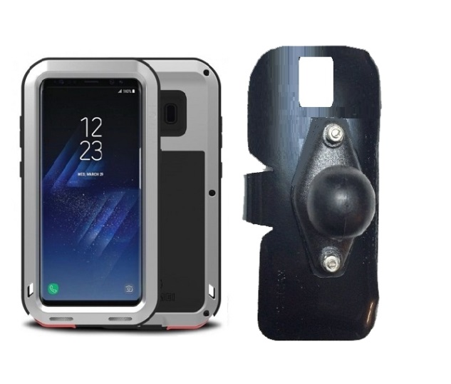 newest 0d91c c381b SlipGrip RAM Holder For Samsung Galaxy S8 Using Love Mei Protective Case