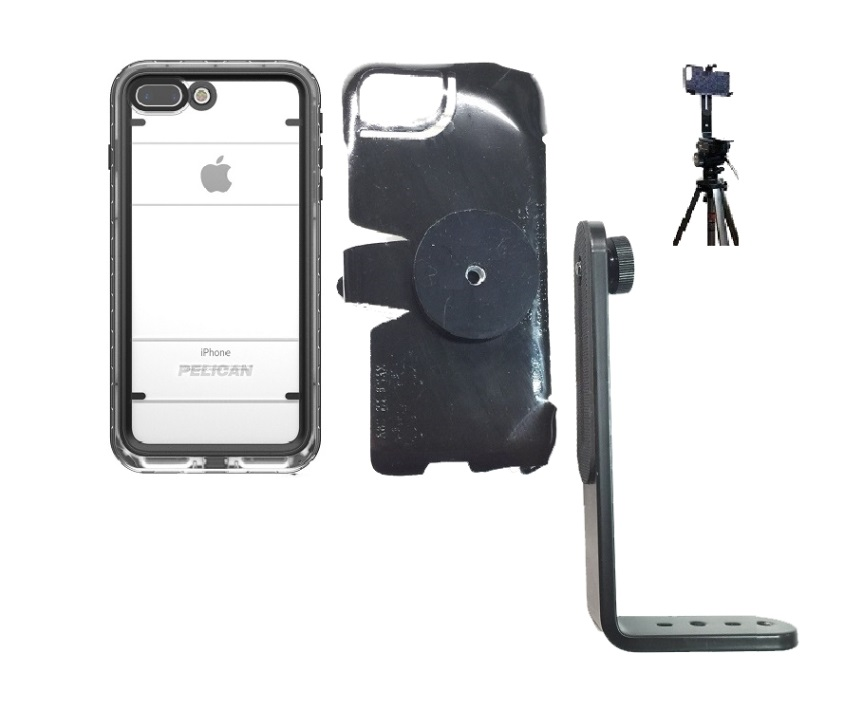best loved a753b bd231 SlipGrip Tripod Mount Designed For Apple iPhone 8 Plus Pelican Marine WP  Case