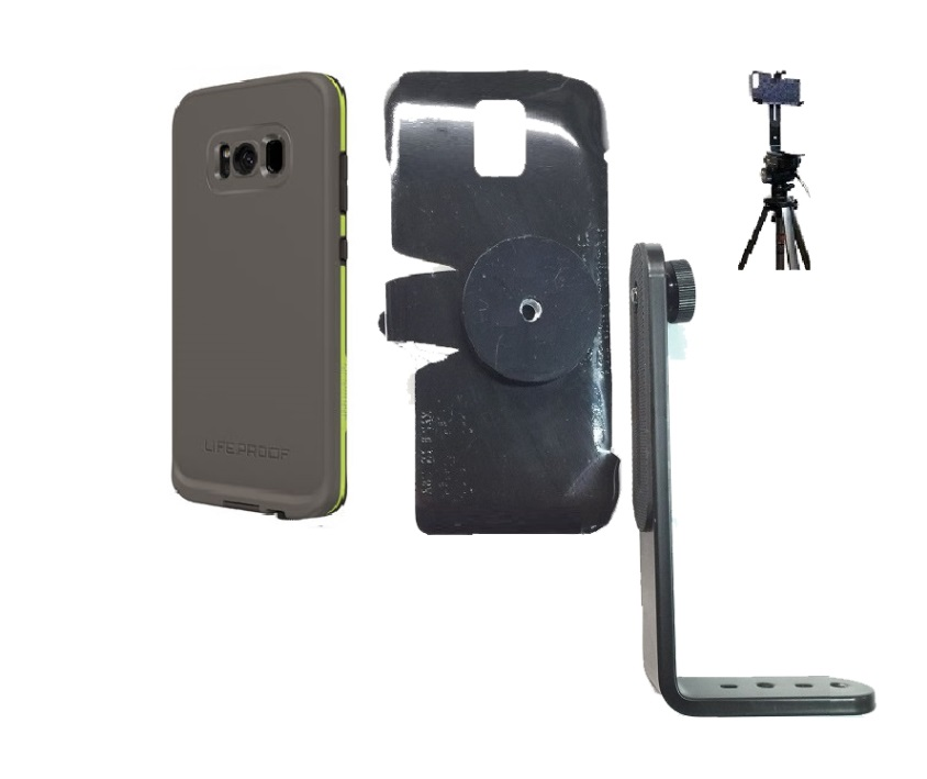 SlipGrip Tripod Mount Designed For Samsung Galaxy S8 Plus LifeProof FRE Case