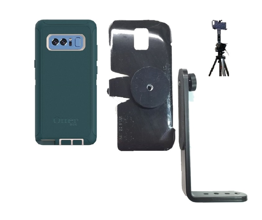 SlipGrip Tripod Mount For Samsung Galaxy Note 8 Using Otterbox Defender Case