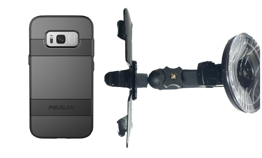 the latest 81304 8296f SlipGrip Car Holder For Samsung Galaxy S8 Active Using Pelican Voyager Case  HV