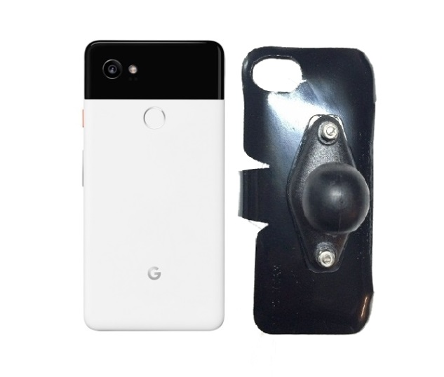 SlipGrip RAM Holder For Google Pixel 2 XL Phone Naked Using No Case On