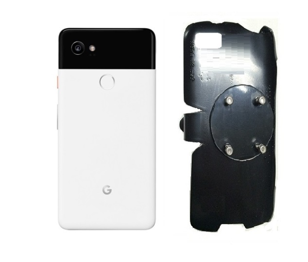 SlipGrip RAM-HOL Holder For Google Pixel 2 XL Phone Naked Using No Case On