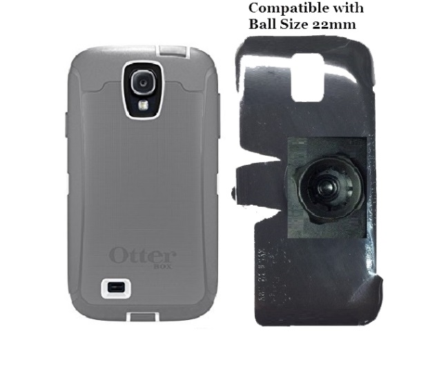SlipGrip 22mm Ball Holder For Samsung Galaxy S4 i9500 Using Otterbox Defender Case