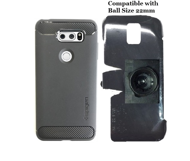 SlipGrip 22mm Ball Holder Designed For LG LG V30 Phone Spigen Rugged Armor ShockProof Case