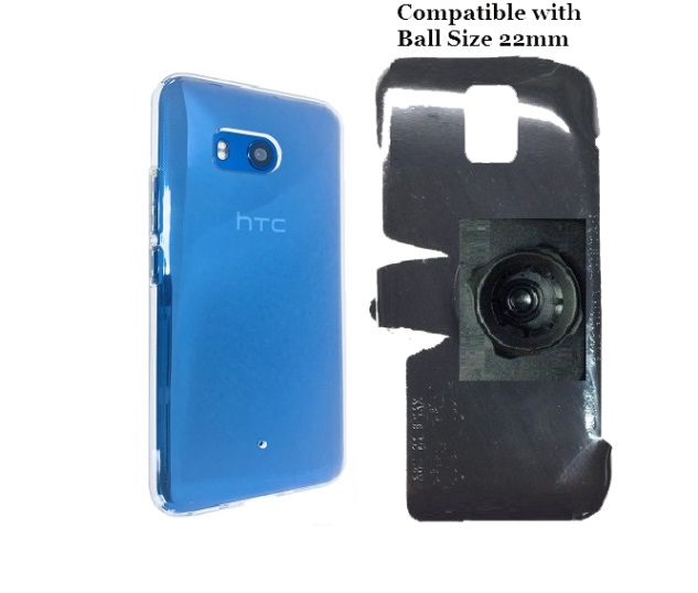 SlipGrip 22mm Ball Holder Designed For HTC U11 Phone Spigen Liquid Crystal Case