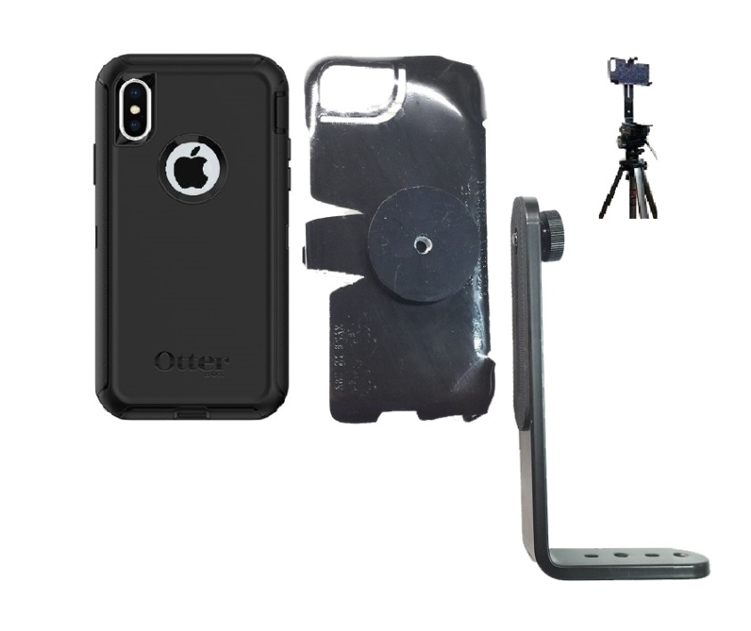 SlipGrip Tripod Mount For Apple iPhone X Using Otterbox Defender Case