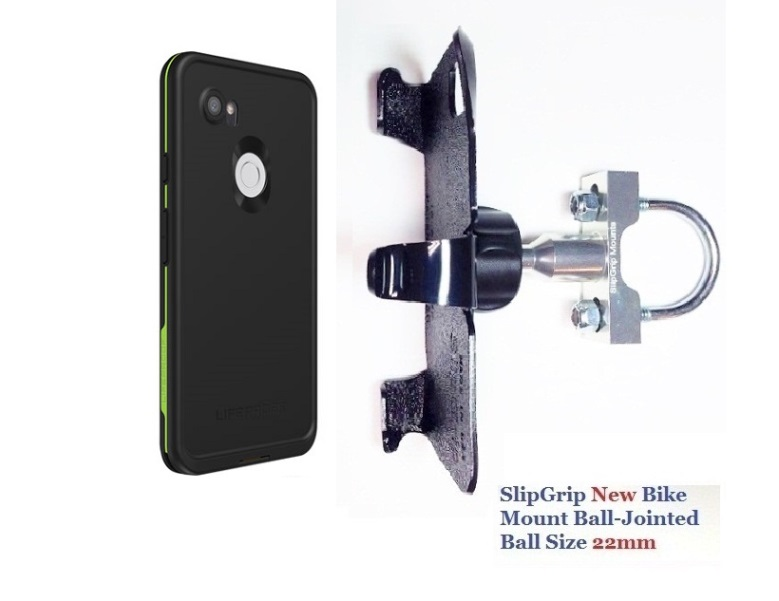 SlipGrip U-Bolt Bike Holder Designed For Google Pixel 3 XL Phone Lifeproof FRE Case