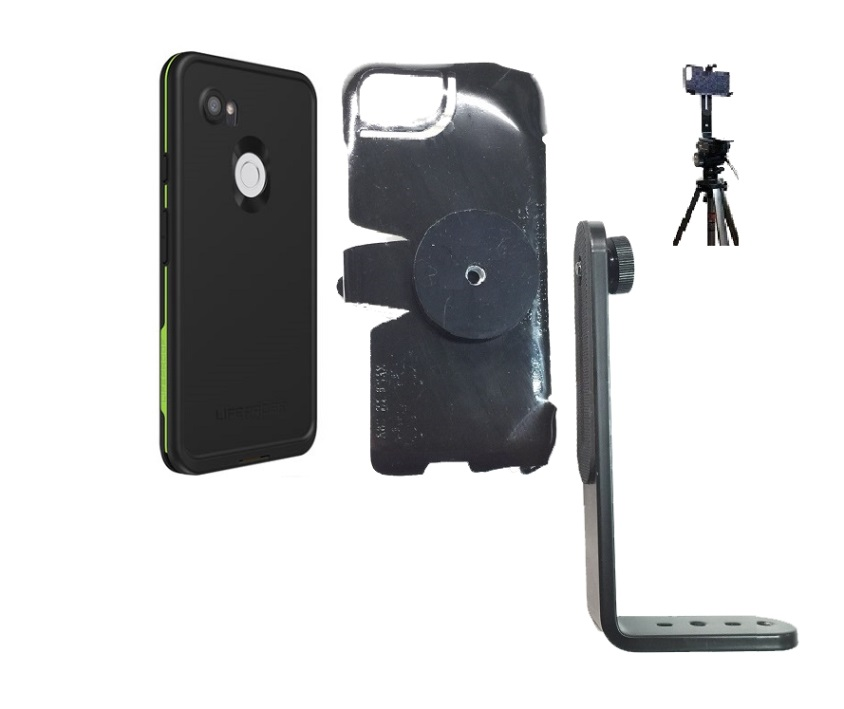 SlipGrip Tripod Mount Designed For Google Pixel 3 XL Phone Lifeproof FRE Case