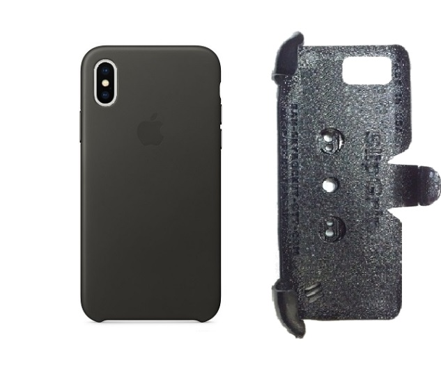 SlipGrip PRO Mounts Holder For Apple iPhone X Using Apple Leather Case
