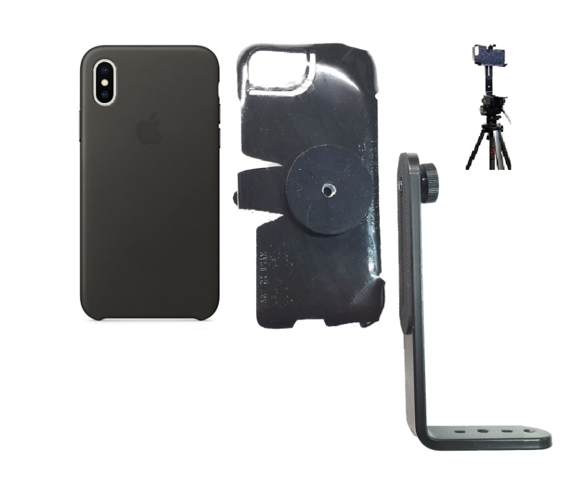 SlipGrip Tripod Mount For Apple iPhone X Using Apple Leather Case