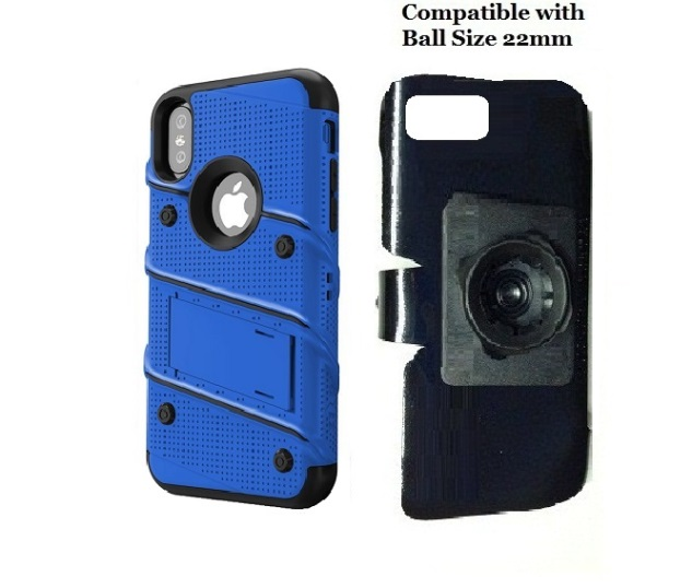 SlipGrip 22mm Ball Holder For Apple iPhone X Using Zizo Bolt KickStand Case