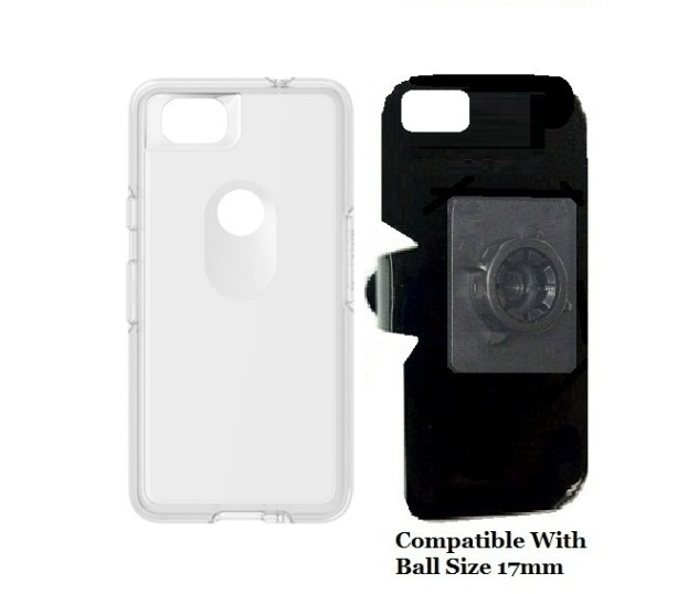 SlipGrip 17MM Holder For Google Pixel 2 Phone Using OtterBox Symmetry Clear Case