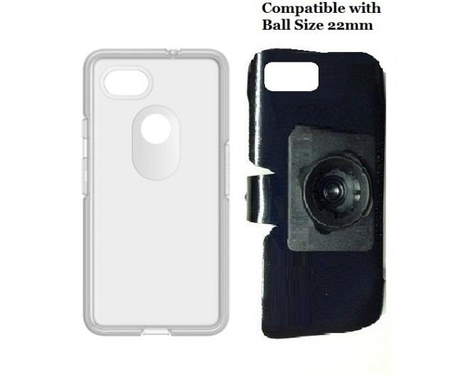 SlipGrip 22mm Ball Holder For Google Pixel 2 XL Phone Using OtterBox Symmetry Clear Case