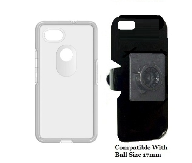 SlipGrip 17MM Holder For Google Pixel 2 XL Phone Using OtterBox Symmetry Clear Case
