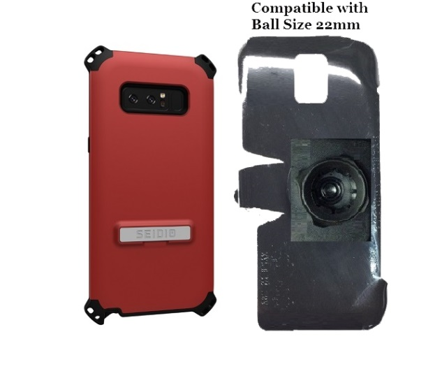 SlipGrip 22mm Ball Holder Designed For Samsung Galaxy Note 8 Seidio Dilex Case