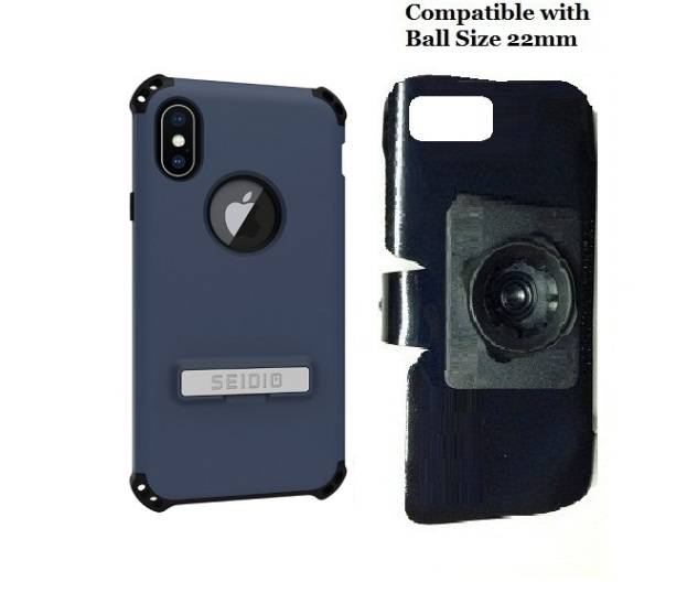SlipGrip 22mm Ball Holder Designed For Apple iPhone X Seidio Dilex Case