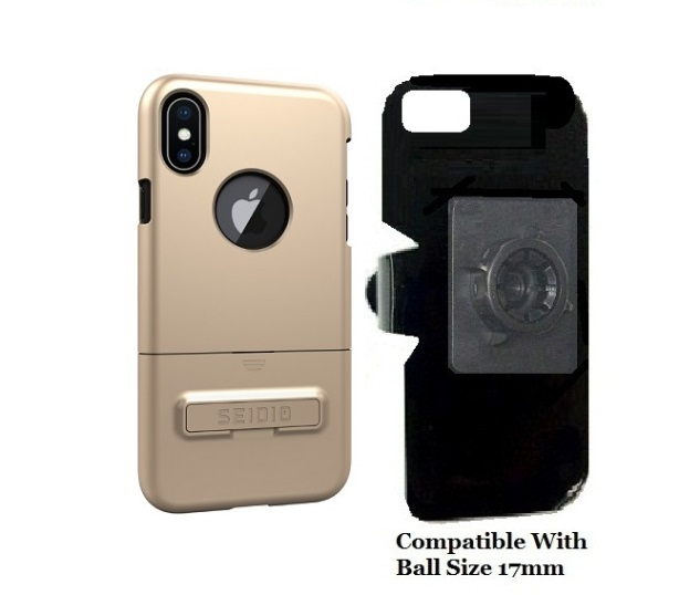 SlipGrip 17MM Holder Designed For Apple iPhone X Seidio Surface Case