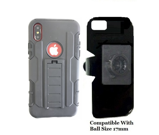 SlipGrip 17MM Holder For Apple iPhone X Using  Defense Shield HD KS Case